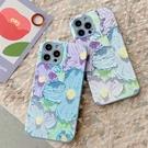 蘋果 iPhone 12 Pro Max 12 Mini i11 Pro Max 油畫花 手機殼 全包邊 保護殼