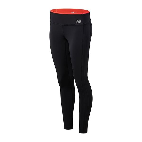 New Balance Accelerate 女裝 長褲 緊身 排汗 口袋 反光 黑紅【運動世界】WP11218MLT