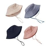 童帽 簡約素色漁夫帽兒童帽子 夏日遮陽帽 防曬帽 88660