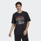【NEW】adidas Originals R.Y.V. RATEUNION男裝 短袖 寬鬆 純棉 印花 黑 H39979