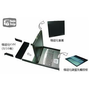 SUNBOX 單埠17吋 LCD KVM (KVM-6500-17)