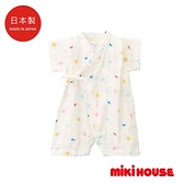 MIKI HOUSE BABY 日本製 可愛動物圓點浴衣
