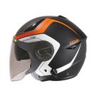 【東門城】ZEUS ZS612A AD4 (消光黑橘) 半罩式安全帽 雙鏡片
