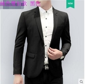 X-男士商務休閒西服帥氣單上衣韓版修身小西裝青年學生夏季薄款外套【雙釦款】