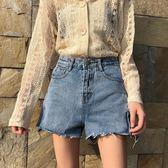 熱褲 高腰牛仔褲女春季2019新款正韓寬鬆顯瘦百搭闊腿褲子短褲學生熱褲