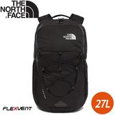 【The North Face 27L 15吋電腦背包《黑》】3KV7/電腦包/書包/15吋筆電包/後背包