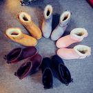 雪靴女短靴短筒防寒學生加絨加厚防寒棉鞋