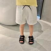 男童短褲嬰童裝男童短褲夏季薄款反光抽繩兒童休閒外穿洋氣五分褲【快速出貨八折下殺】