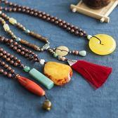 民族風項鏈 挂件 配飾 長款項鏈 流蘇 毛衣鏈/3色-夢想家-0409