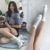 女性裸靴 新款短靴馬丁靴女透明踝靴 珍妮寶貝