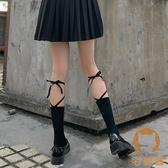 2雙裝 繫帶綁帶襪子女交叉中筒襪小腿襪綁腿薄款長襪【宅貓醬】