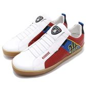 Royal Elastics 休閒鞋 Icon 白 紅 高級皮革鞋面 無鞋帶設計 真皮內裡 男鞋【PUMP306】 02082109
