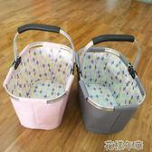 購物籃收納籃便攜可折疊購物籃野餐籃 花樣年華