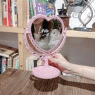 化妝鏡 風復古化妝鏡少女心桌面臺式網紅梳妝鏡子雙面歐式宿舍公主鏡【快速出貨八折鉅惠】