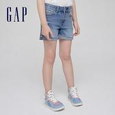 Gap女童 做舊風格水洗牛仔短褲 550911-牛仔藍
