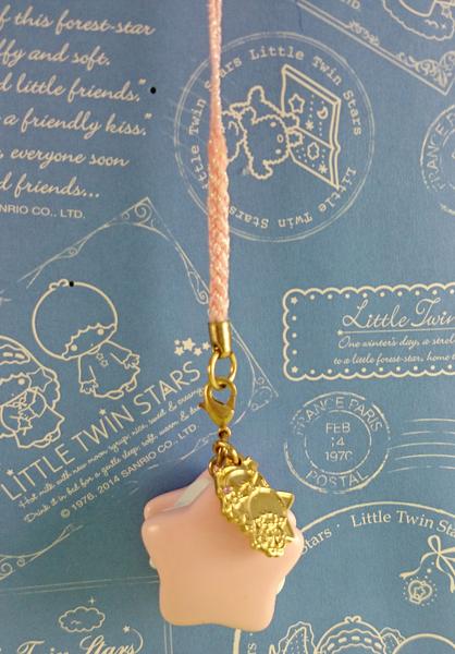 【震撼精品百貨】Little Twin Stars KiKi&LaLa 雙子星小天使~手機吊飾_夾心餅乾_粉粗繩