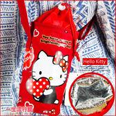 《最後1個》Hello Kitty 凱蒂貓 正版 野餐 保冷 保溫袋 水壺袋 收納袋 B19054