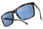 EMPORIO ARMANI 太陽眼鏡 EA4117F 5703-80 (透琥珀-藍鏡片) 潮流方框款  # 金橘眼鏡