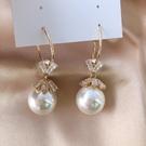 高級感珍珠耳環 韓國氣質網紅耳墜 新款潮大耳圈名媛大氣耳飾