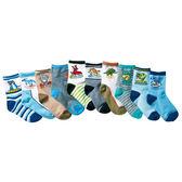[韓風童品](10雙/組)棉質男童襪 兒童百搭休閑襪 中童棉質襪子 兒童薄棉短筒襪子 恐龍圖案棉襪