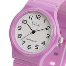 手錶趣【Dinal】童話奇緣 超輕量數字腕錶x紫色帶-白34mm