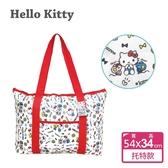 【Sanrio三麗鷗】Hello Kitty 托特保溫保冷袋 (約13L) 前方口袋設計好貼心