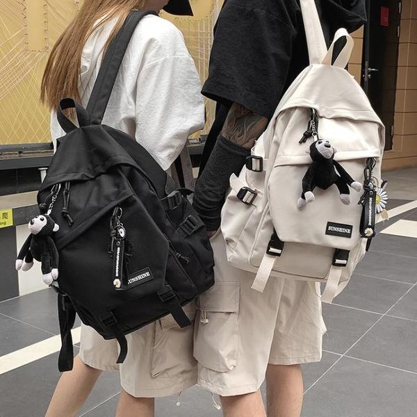 書包女韓版高中大容量百搭雙肩包男大學生時尚潮流ins風情侶背包 夢幻小鎮