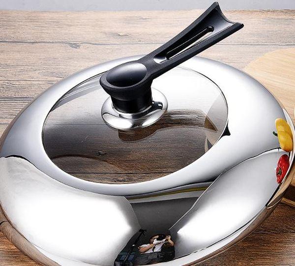 鍋蓋不銹鋼加厚鋼化玻璃鍋蓋加高可視蒸鍋鍋蓋可立式炒鍋鍋蓋 LX 【限時特惠】