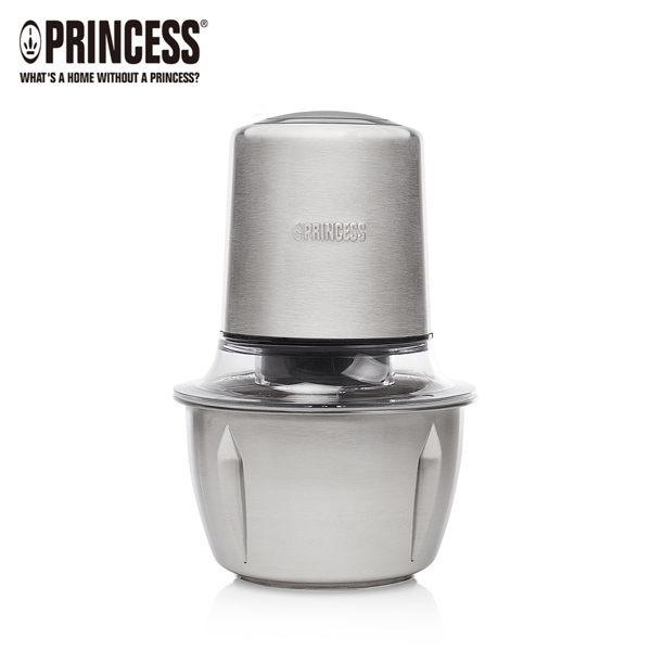 【歐風家電館】PRINCESS 荷蘭公主 迷你不鏽鋼雙刀 食物處理機 221050 (1公升)