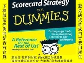 二手書博民逛書店Balanced罕見Scorecard Strategy For DummiesY410016 Charles