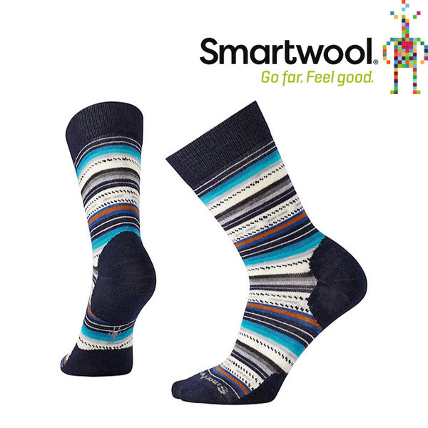 【SmartWool 美國 女款 瑪格麗特紋中長襪《深海軍藍》】SW0SW717/排汗襪/保暖襪/抗臭襪★滿額送