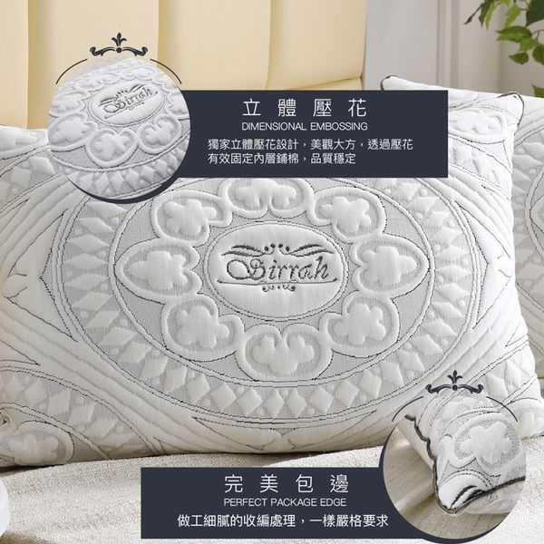 竹炭天絲枕 巴洛克圖騰  防蹣 抗菌 除臭 舒適 枕頭 枕心 Best寢飾