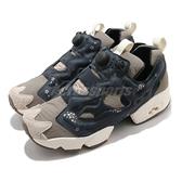 Reebok 休閒鞋 Instapump Fury OG 灰 深藍 男鞋 女鞋 牛年 櫻花圖騰【ACS】 FX3660