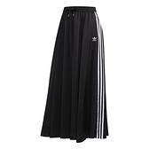 ADIDAS 長裙 ORIGINALS SKIRT 黑 白 三線 拉鍊口袋 休閒 日系 裙子 女 (布魯克林) FL0039
