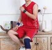 純棉無袖運動套裝男跑步健身背心短褲休閒寬鬆夏季服裝薄款運動服gogo購
