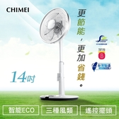 CHIMEI奇美 14吋微電腦ECO遙控擺頭DC節能風扇 DF-14D600