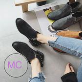 XF740清倉不退換 牛pi 及踝靴子休閑短靴女防滑低跟馬丁靴mks歐歐