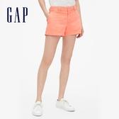 Gap女裝 活力亮色舒適休閒短褲 440951-珊瑚色