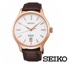 SEIKO 精工/ PRESAGE 紳士經典玫瑰金機械錶 SRPD42J1 /  4R35-03P0K 禮物/ 41.7mm