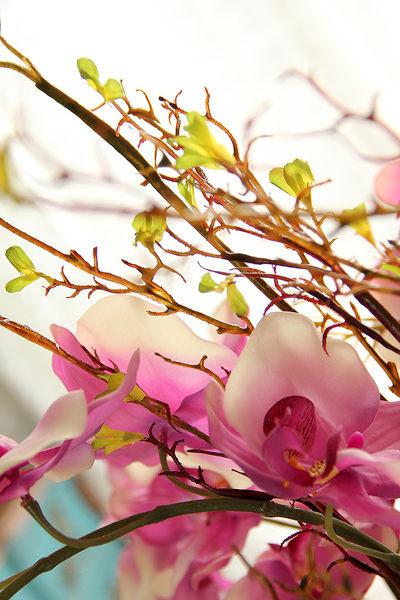 模擬花假花 套裝 花藝 客廳餐桌 裝飾花 花瓶花束 -bri02059