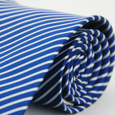 【Alpaca】藍底白斜紋領帶