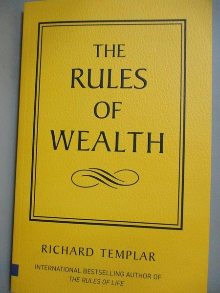 【書寶二手書T1/投資_ZDJ】The rules of wealth : a personal code for…