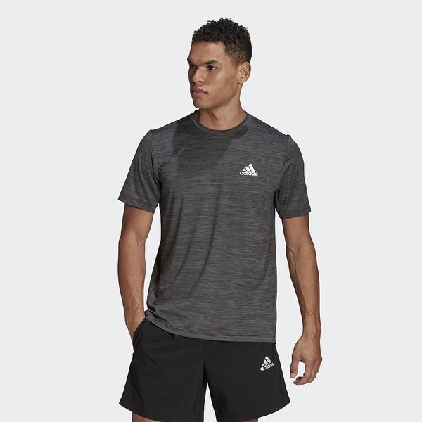 Adidas AEROREADY Designed To Move 男款 黑灰色 專業訓練 運動短袖上衣 GM2074【KAORACER】