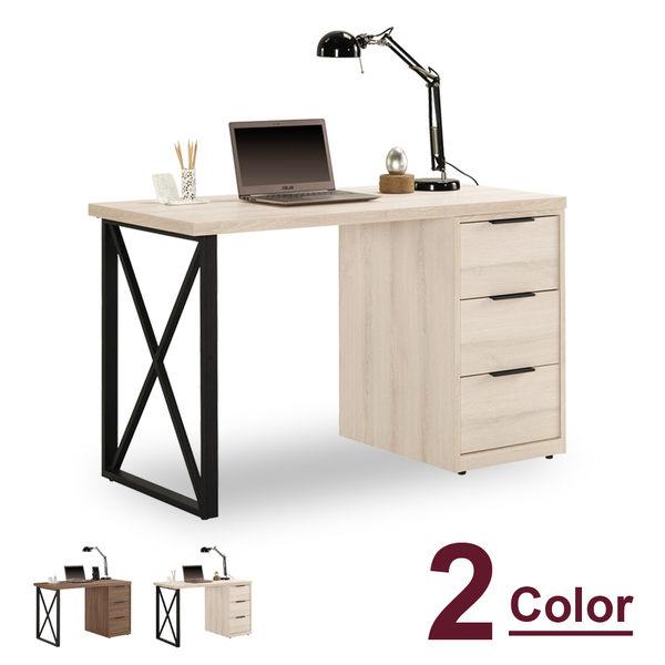 書桌【時尚屋】[C7]諾艾爾4尺三抽書桌C7-868-2兩色可選/免運費/免組裝/書桌