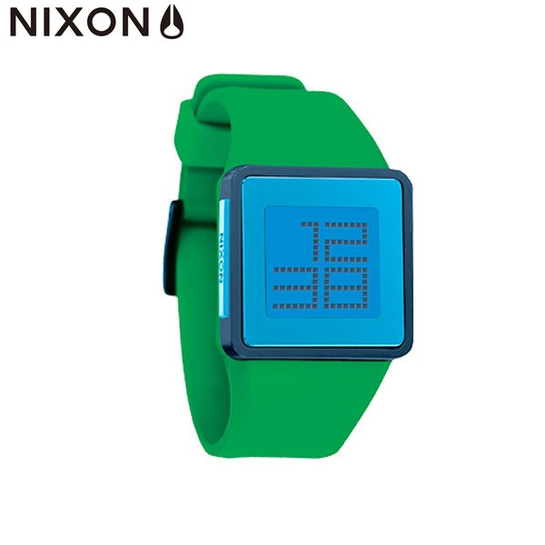 NIXON手錶 原廠總代理 A137-875 NEWTON DIGITAL 綠藍色 潮流時尚膠錶帶 男女 運動潛水 生日 情人節禮物
