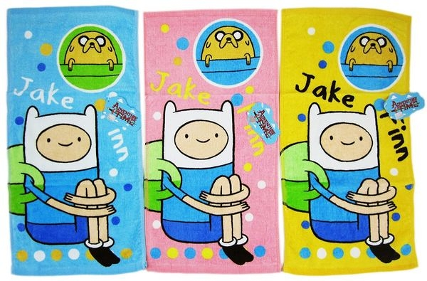 【卡漫城】 探險活寶 毛巾 3入組 阿寶 ㊣版 Adventure Time 老皮 純棉100% 童巾 洗臉巾 擦手巾