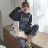 網紅復古背帶長褲女秋裝2019新款韓版寬鬆直筒牛仔褲子潮-ifashion