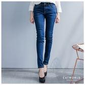 Catworld 都會感百搭修身牛仔褲【12001676】‧S/M/L/XL/2XL