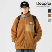 立領外套 日系街頭拼接色保暖立領 絨毛外套 夾克【TJG204F008】現貨+預購