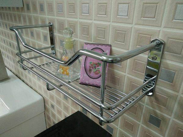 衛浴 浴室 牆面收納 不銹鋼單層網籃 置物平台 收納架 寬31x深11x高10.5cm
